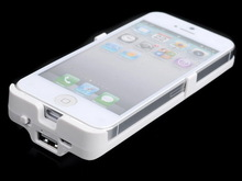 Rechargeable camera battery case for iphone5 2800mah for 2800MAH