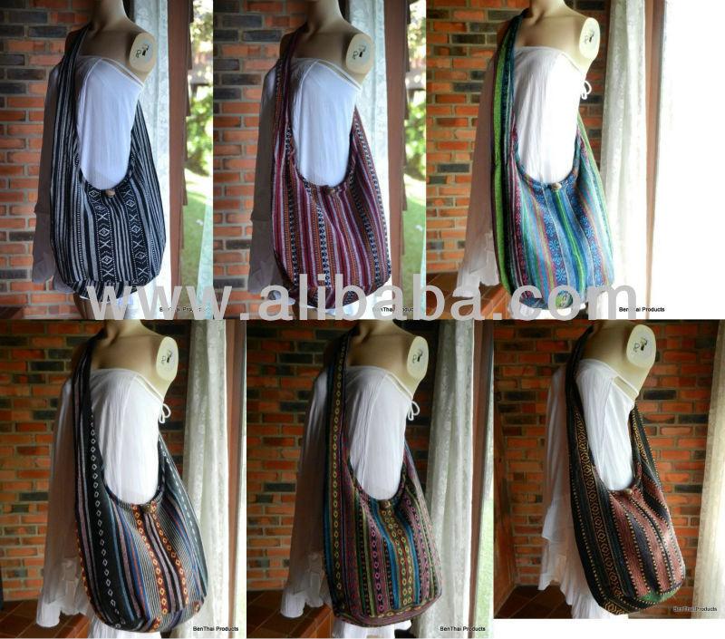 Cotton Shoulder Sling Bag 19