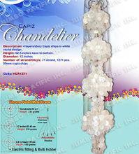 Capiz Chandeliers in 4 story long