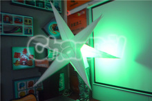 Ceiling inflatable green lighting star Dia.2m/inflatable star light