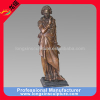 bronze beethoven leaning on the pillar sculpture for sale