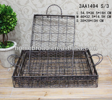2013HOMEBROAD NEW DESIGN METAL RECTANGLE TRAY S/3