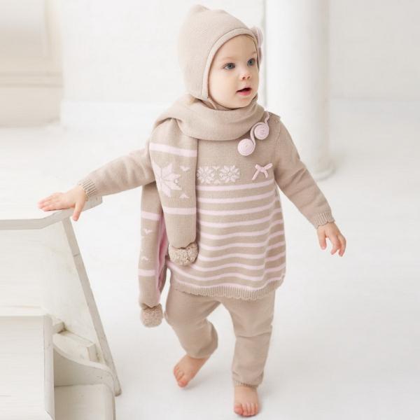 Db269 de dave bella oto 241 o algod 243 n de la princesa de lana fija la ropa del beb 233 ropa del beb 233 del