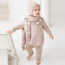 DB269 dave bella autumn cotton wool princess sets baby clothes baby clothing baby knitted chothing set