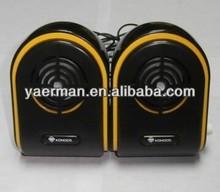 pc speakers 2.0,top sale with compatible usb/fm mini speaker