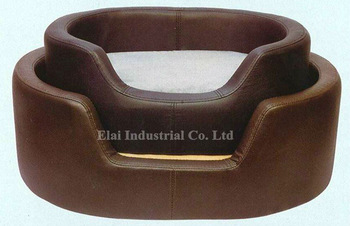 Faux Leather (PU, PVC) or Genuine Leather Pet Bed