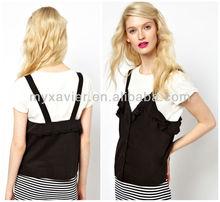 Dungaree tshirt designer low price clothes(SA009)