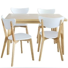 Durable hotel dining table and chair
