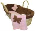 confortável baby palha cesta