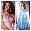 colorful one shoulder floor length spark A line sweetheart custom make TM1231 gambar model gaun satin long dress