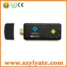 Android TV Box mk809III quad core RK3188 android 4.2 mini pc tv dongle