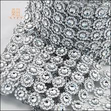 wedding cake decorating plastic crystal mesh ribbon