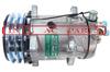 air ac a c compressor assy Sanden 510 5H16 SD5H16 SD510 9103 132mm 2A Flare Agco Case Caterpillar John Deere Massey Ferguson