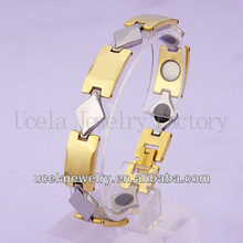 2013 Vogue gold plated locking stainless steel bracelet in vivace jewelry