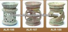 Soapstone Incense Oil Burners , Air Freshener Oil Diffuser Lamp