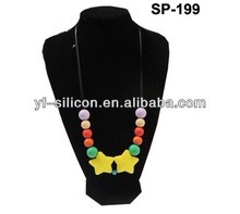 Silicone Star Beads Necklace/Round Beads Necklace