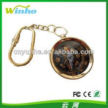 Nautical Brass Compass Pocket Key Chain