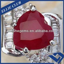 Burma Natural Quality Ruby Gemstone Heart 8*8mm