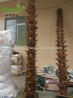 Wholesale Artificial lanscaping Palm Trees trunk with real palm fibre for decoration