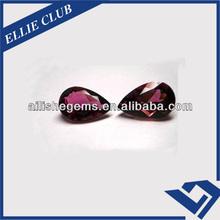 Pear 8*10mm Jewellery Czech Ruby Semi Precious Gems
