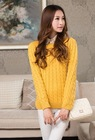 Ladies knitted sweaters women heavy knit sweater