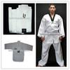 V neck White taekwondo uniform WTF