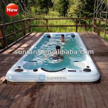 Fiberglass retancgular swimming pools, swim massage jets swimming pools in China, portable swimming pools in china