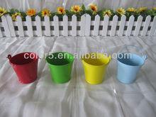 Mini galvanized metal garden flower pot zinc pot planter