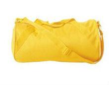 Cotton Duffle Bag with Handle & Zip (Yellow)