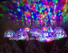 LED Full Color Rotating color changing bulb halogen light bulb color changing