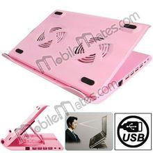 HH-S1001 4 USB 2.0 HUB Metal Feels Design Powerful Laptop USB Cooler Pad, wholsesale built-in fan professional heat dissipation