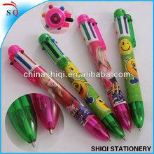 school carton printing six color click ballpoint pen