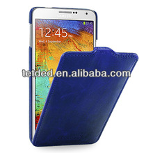 OEM Premium Leather Case for Samsung Galaxy Note 3/III N9000 N9002 N9005 -- Troyes (Lava: Blueberry)