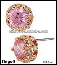 Daisy Rose Gold Pink Stud Earring Bling Bling Earring