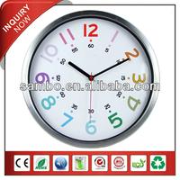 Gift Bathroom Metal Round Wall Clock