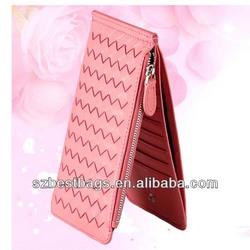 Latest popular sheepskin weaving purse for lady