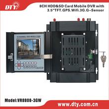 8 channel H.264 full D1 GPS 3G WIFI car motherboard dvr