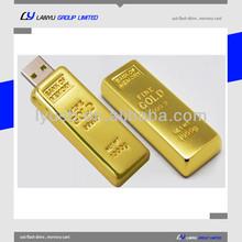 gold bar pendrive ,gift 8gb thumb drive golden bar ,custom gold bar flash disk usb