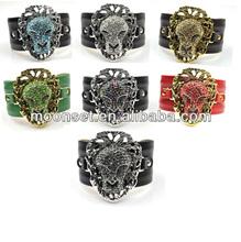 2014 Zodiac Leo Animal Make Leather Friendship Bracelet