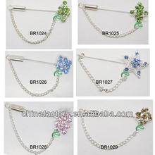 BR1014-1019 Hot Selling Scarf Pin Shawl Brooch Crystal Hijab Stick Pin Fixed Safety Pin