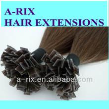 "22"" Remy Hair Extensions Nail tip Flat pre bonded Italian keratin glue"