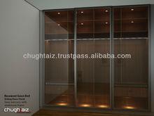 3 Doors Glass sliding Wardrobe