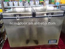100L PORTABLE DUAL ZONE MINI REFRIGERATOR 12v compressor fridge commercial beer fridge