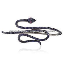 Ruby Eyed Snake Blue Sapphire Palm Bracelet