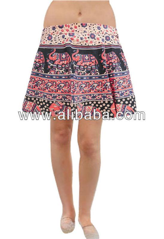 Women's Wear Wraparound Mini Skirts, Ladies Wear Mini Skirts, Girls Wear Skirts
