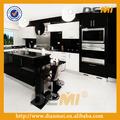Encanto de alto brilho cozinha móveis gabinete ilha no rei das cores preto& white+ tabela