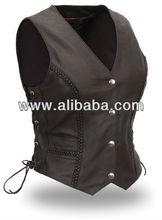 New women 2013 design vests 100% real leather wears cow split leather vest motorbike waistcoat casual dressing quality wears