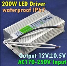 Input AC170-250V Output 12V 200W Waterproof Electonic LED Driver
