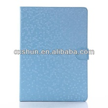 Shiny diamond patterns leather case for tablet case for ipad with 2013 New product