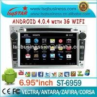 Wholesale LSQStar Android4.0 Opel Corsa/meriva/astra Car Radio Gps With Dvd/cd/mp3/mp4/BT/radio/tv/gps/3g/wifi/android!silvery!